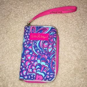 A Lilly Pulitzer wristlet.